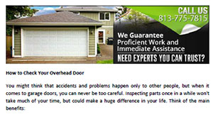 How To Check Your Overhead Door In Keystone   Click Here To Download